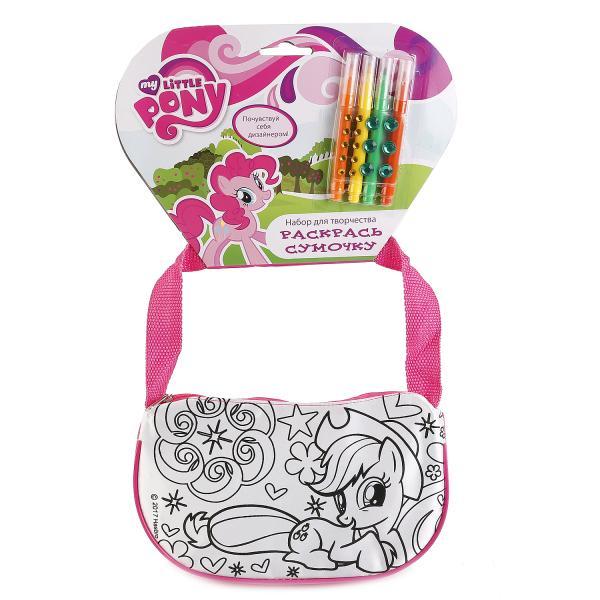 Набор для творчества MultiArt My Little Pony Сумочка для росписи, 184116 набор для росписи multiart сумочка my little pony 253368 белый