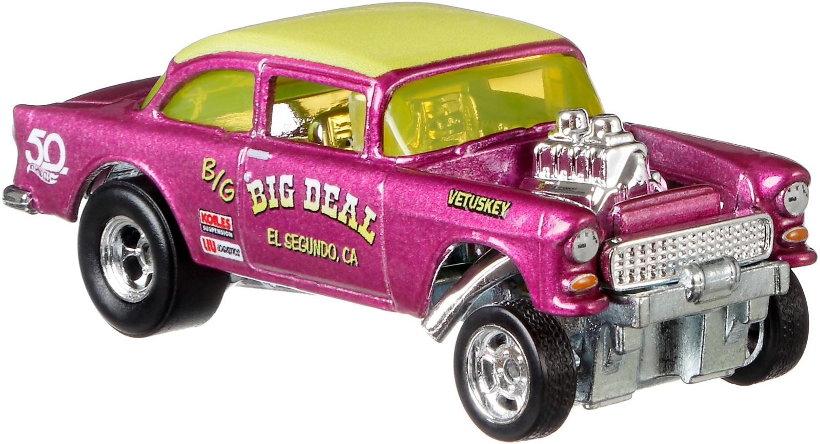Трековая машинка Hot Wheels Юбилейные, FLF35_FLF43, розовый, желтый