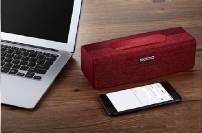 Беспроводная колонка SODO Портативная Bluetooth колонка SODO L2.LIFE FM-радио, слот для карт TF, Aux. Цвет: Красный, 1172, красный аудио колонка bluetooth 360 nfc u disck tf 1pcs lot 565125