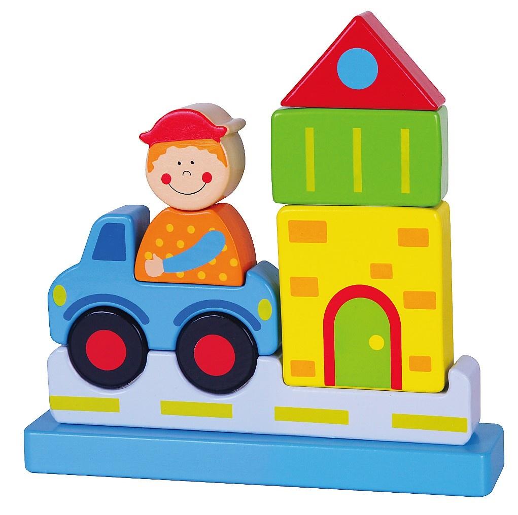 Магнитный конструктор Viga Деревянный Город, 14574 детские игрушки viga