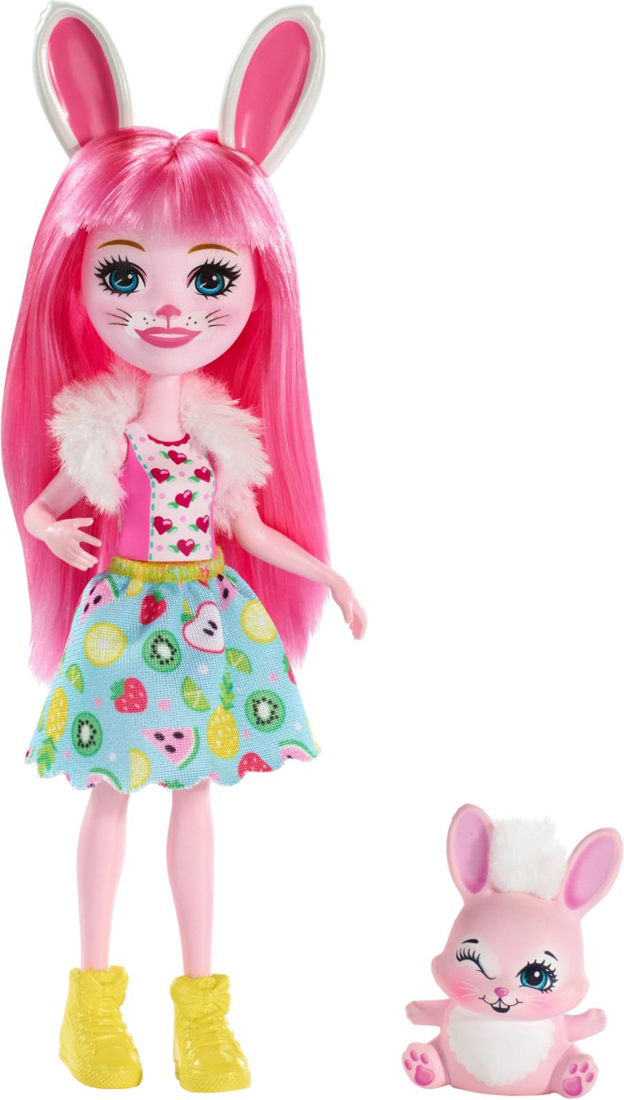 Игровой набор с куклой Enchantimals Bree Bunny, DVH87_FXM73, розовый, 15 см mattel набор с куклой enchantimals сюжетные наборы бри банни и твист