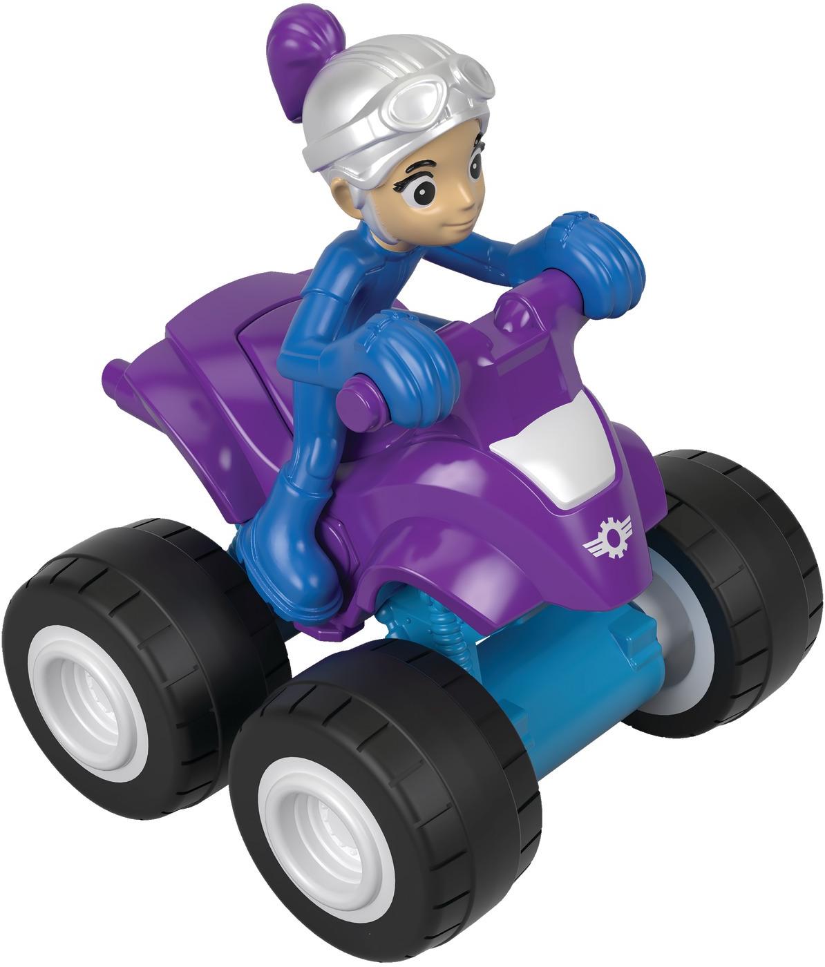 Машинка Blaze Вспыш. Маленькая машинка, DYN46_FHV31, фиолетовый, синий blaze машинка огурчик dtk29