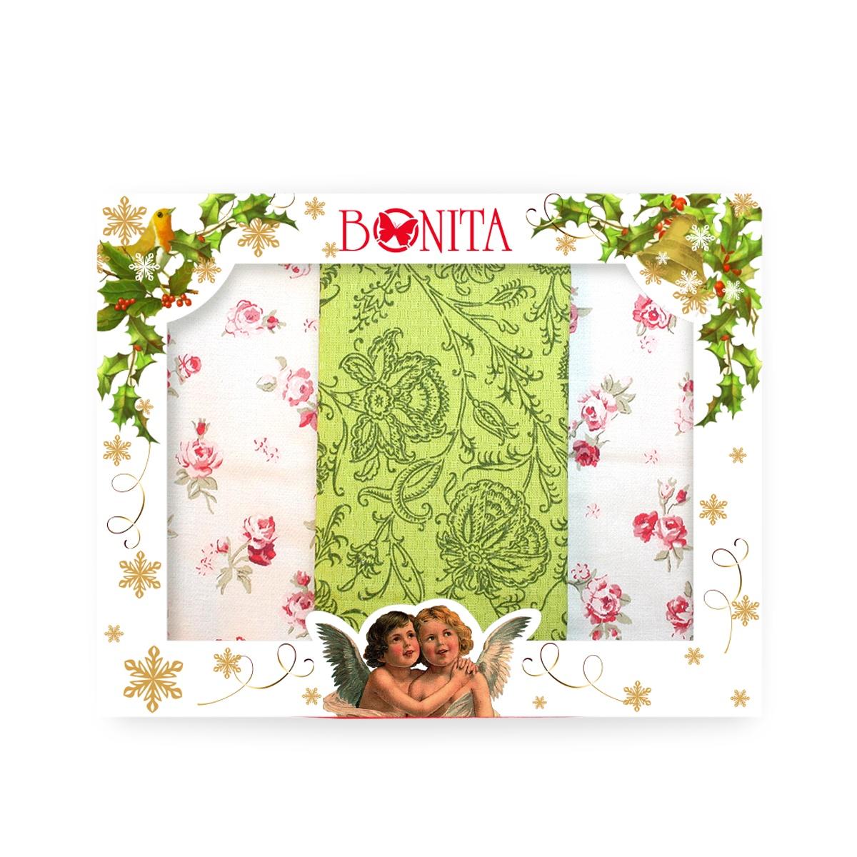 Набор Bonita Лепесток, 11010816486, белый, зеленый, 3 шт набор полотенец bonita французская сирень 45 х 60 см 3 шт