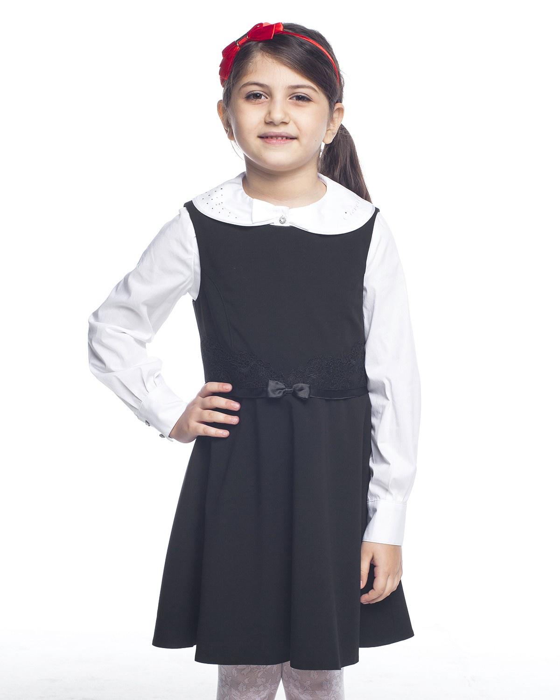 Сарафан Cleverly карамелли карамелли школьный сарафан для девочки темно синий