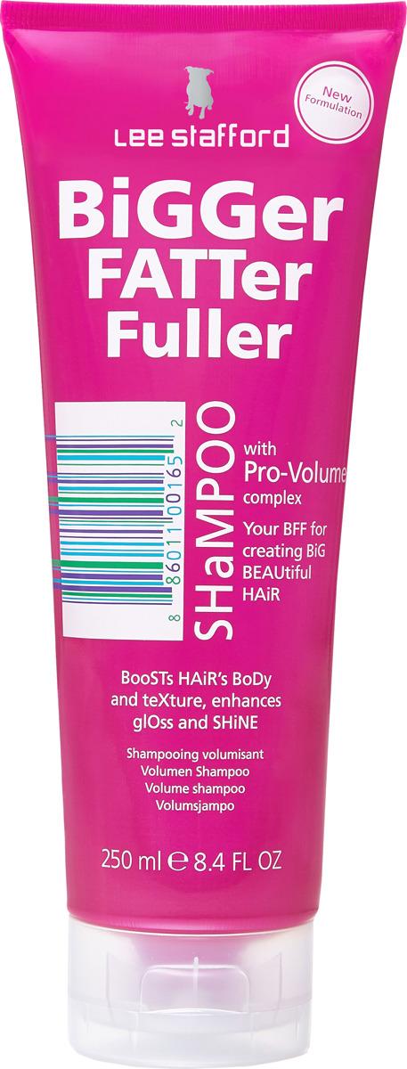 Шампунь для волос Lee Stafford Bigger Fatter, для придания объема, 250 мл lee stafford everyday blonde shampoo шампунь для осветленных волос для ежедневного применения