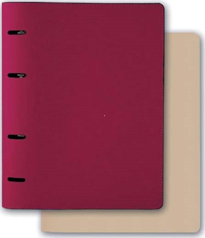 Тетрадь Феникс+, 43142, малиновый, бежевый, 175х220 мм, 160 л