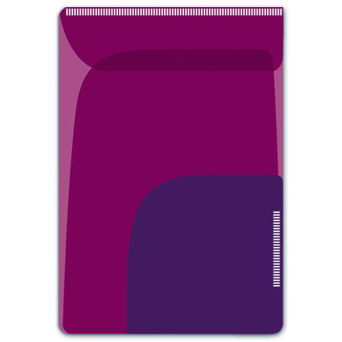 Папка-уголок для заметок Феникс +, 46730/12, формат 8.5 х 12 см, 2 шт, два отделения, малиновый, фиолетовый46730Папка-уголок для заметок арт.46730/12 МАЛИНОВЫЙ + ФИОЛЕТОВЫЙ (8.5х12, 2 шт. в наборе, два отделения, пластик, фигурная вырубка, липкий слой )