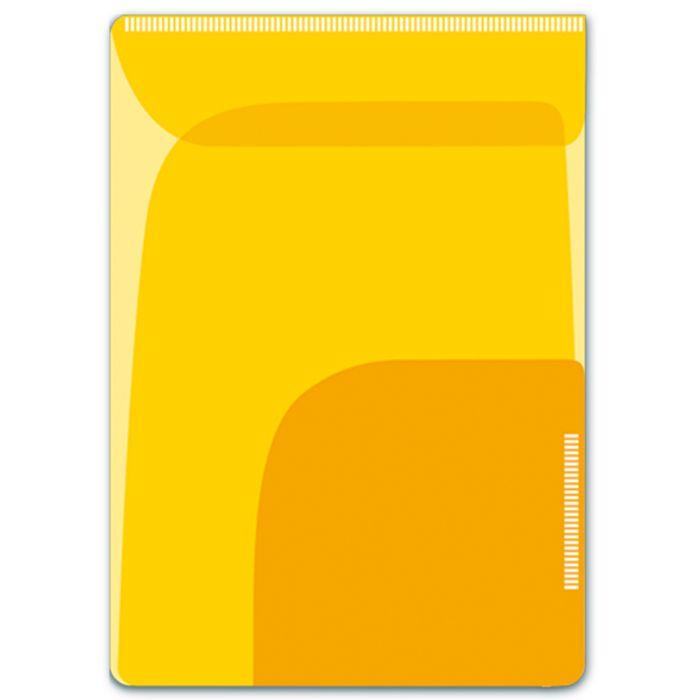 Папка-уголок для заметок Феникс +, 46727/12, формат 11 х 16 см, 2 шт, два отделения, желтый, оранжевый46727Папка-уголок для заметок арт.46727/12 ЖЕЛТЫЙ + ОРАНЖЕВЫЙ (11х16, 2 шт. в наборе, два отделения, пластик, фигурная вырубка, липкий слой)