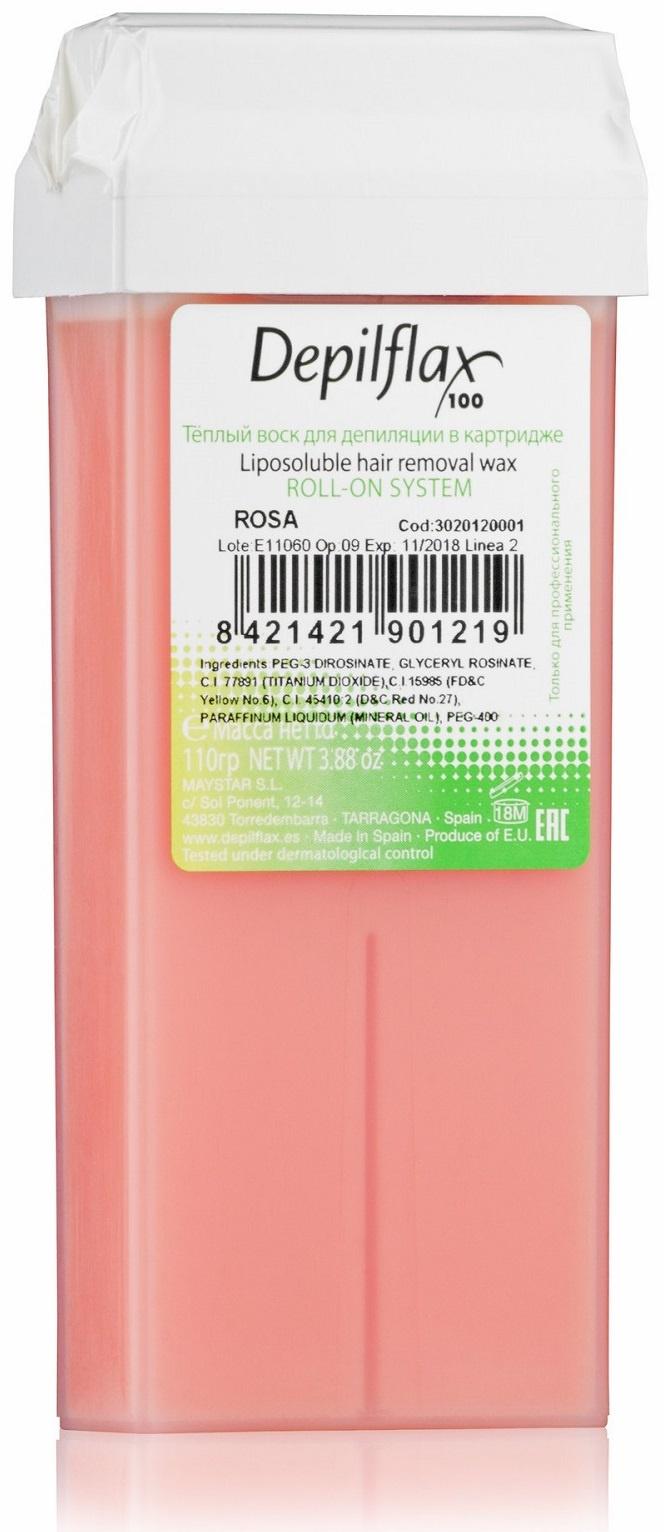 Воск для депиляции DEPILFLAX100 розовый/rosa 110 г воск для депиляции depilflax100 розовый 900984d к ремовый плотный 110 гр 110