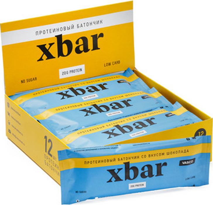 Протеиновый батончик Vasco XBar, шоколад, 12 шт по 60 г