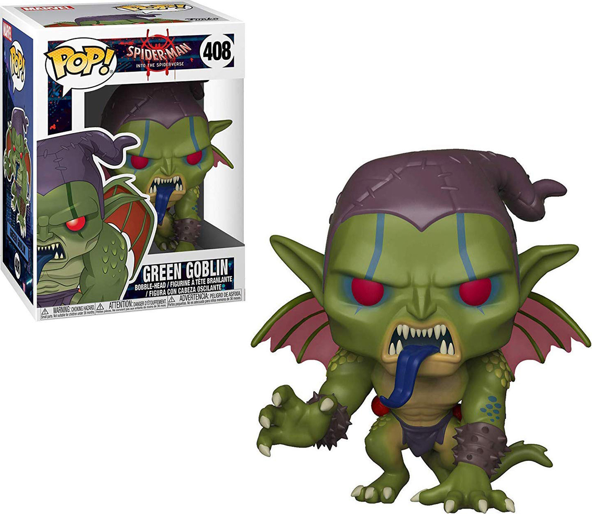 Фигурка Funko POP! Bobble: Marvel: Animated Spider-Man: Green Goblin 33979 funko pop bobble фигурка marvel spider man homecoming spider man homemade suit 13315