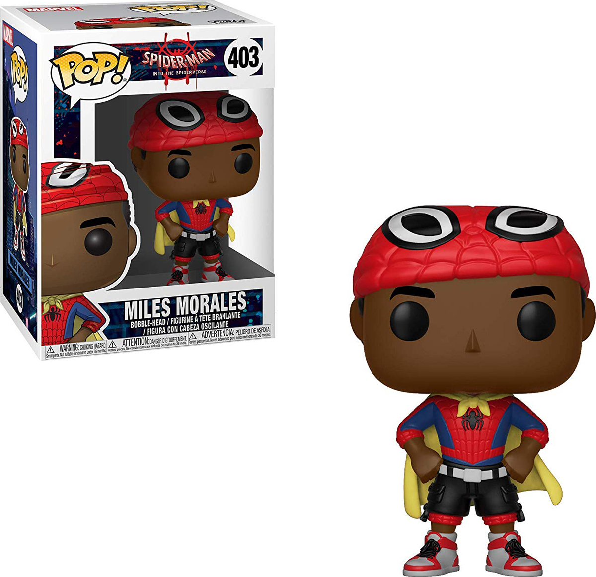 Фигурка Funko POP! Bobble: Marvel: Animated Spider-Man: Miles w/ Cape 33976 funko pop bobble фигурка marvel spider man homecoming spider man homemade suit 13315