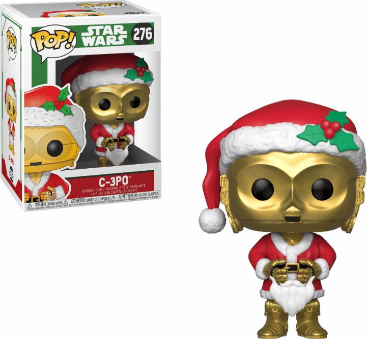 Фигурка Funko POP! Bobble: Star Wars: Holiday: C-3PO as Santa 33888 funko pop bobble фигурка star wars yoda 2322