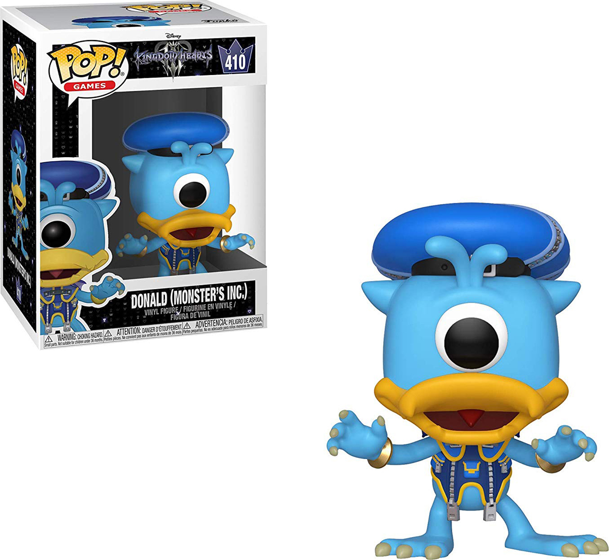 Фигурка Funko POP! Vinyl: Games: Kingdom Hearts 3: Donald (Monsters Inc.) 34059 фигурка funko pop vinyl games kingdom hearts 3 sora monster s inc 34057