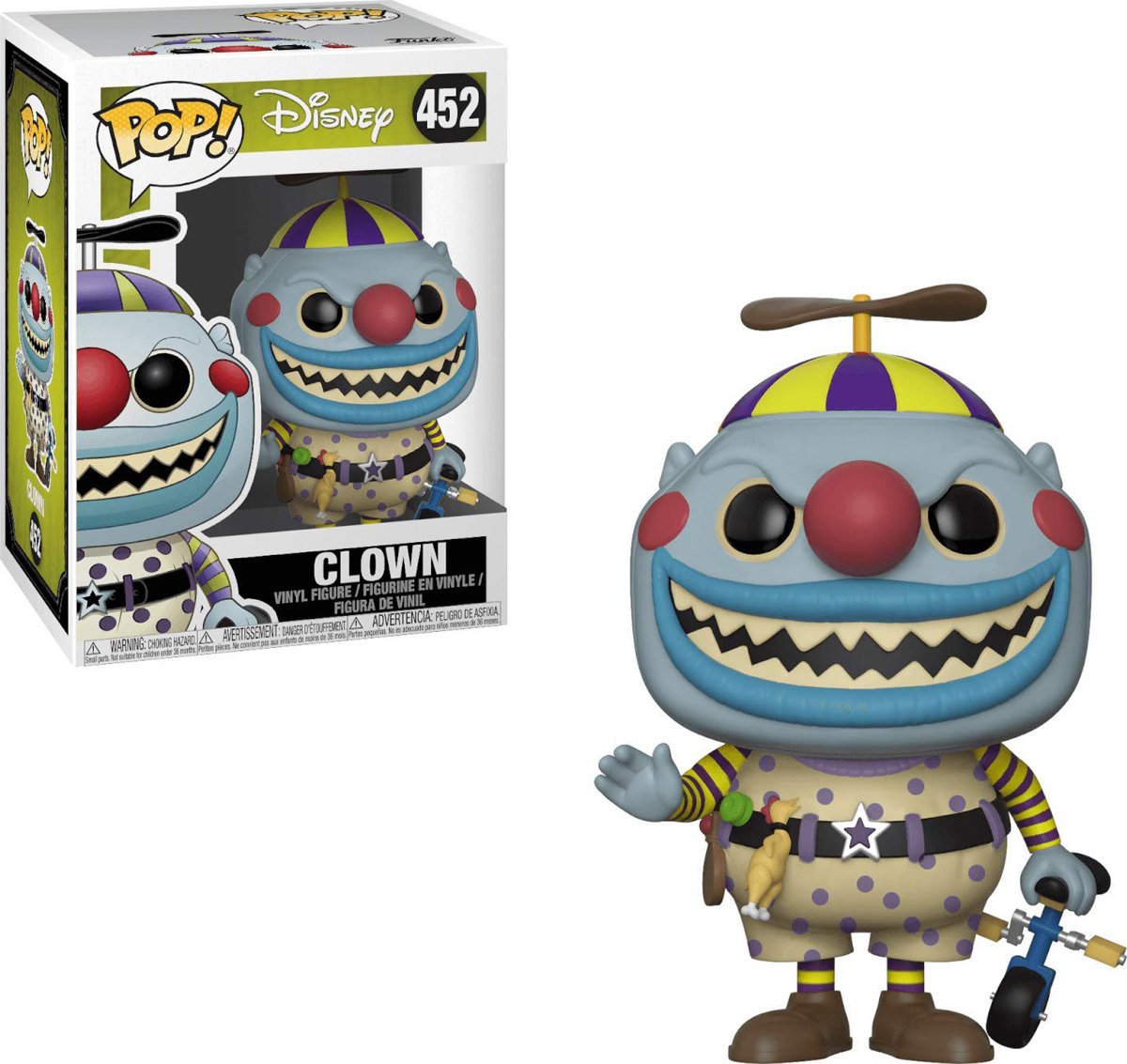 Фигурка Funko POP! Vinyl: Disney: NBX: Clown w/ a Tear-Away Face Chase 32840 фигурка funko pop disney darkwing duck – launchpad mcquack 9 5 см