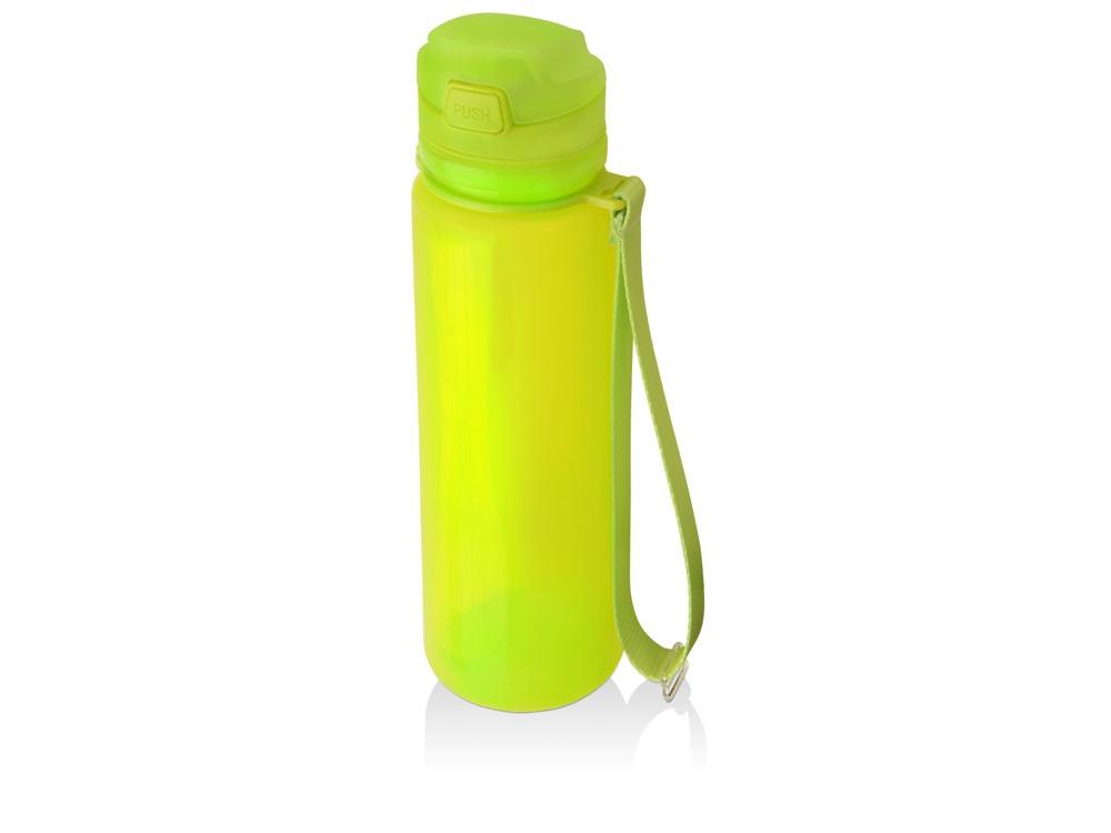 """Складная силиконовая бутылка «Твист» 500мл, зеленая840003Силиконовая бутылка """"Твист"""" с мерной шкалой и объемом 500 мл прекрасно подойдет для активного отдыха на природе и занятий спортом. Мягкий материал корпуса бутылки позволяет удобно сложить бутылку, и она практически не занимает места в сумке. Герметичная кнопка на крышке не даст напитку пролиться. Также бутылка оснащена специальной мягкой поилкой с нажимным механизмом, которая очень удобна в использовании."""