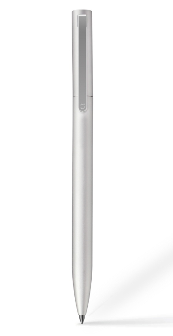 Ручка Xiaomi Ручка Xiaomi Mi Metal Pen (черные чернила), MUZXB01XM Silver, серебристый