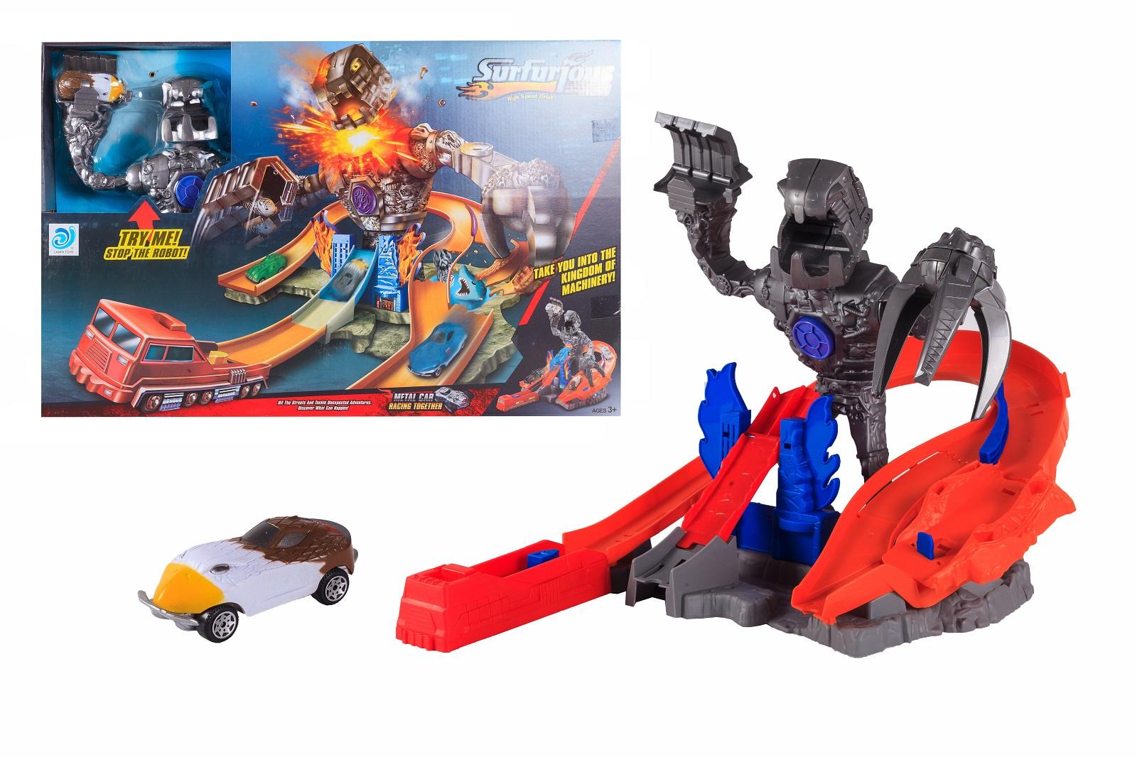 Автотрек S+S, с запуском автотрек s s toys 68814 с машинками в коробке