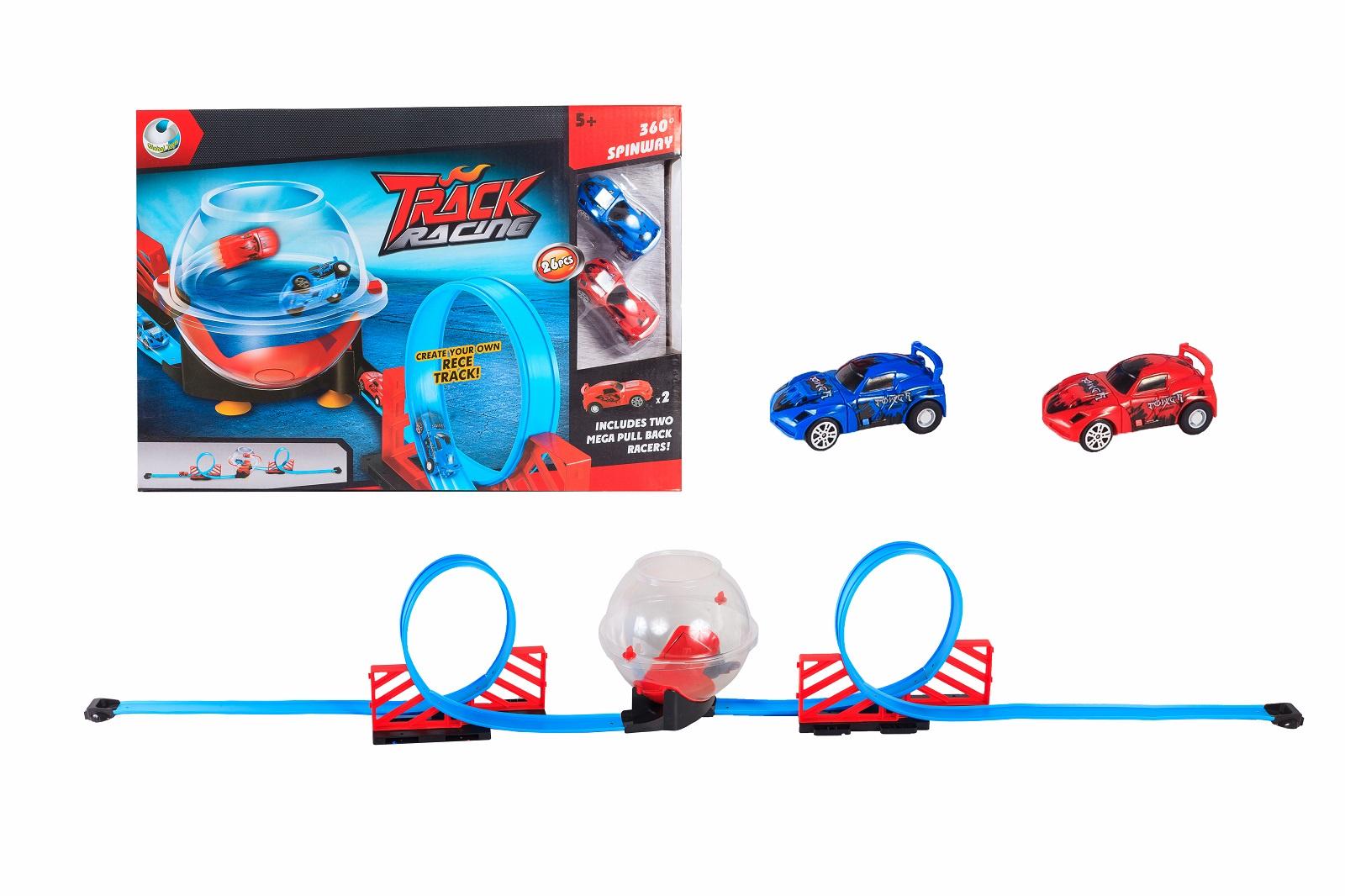 Автотрек Мертвая петля, инерция, 2 машинки, 26 деталей автотрек s s toys 68814 с машинками в коробке
