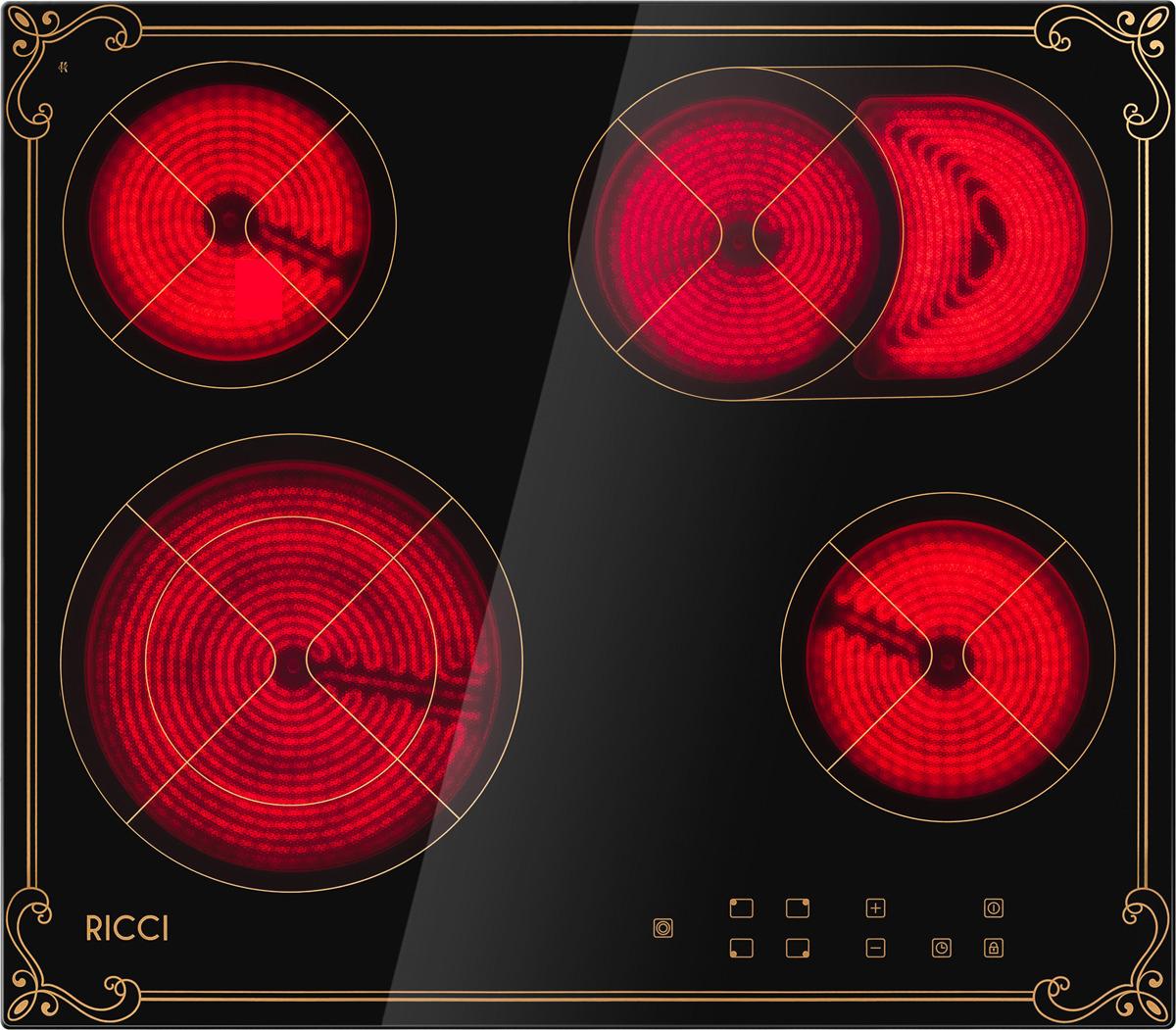 Варочная панель Ricci KS-T46602IR2, четырехконфорочная, инфракрасная, черный все цены