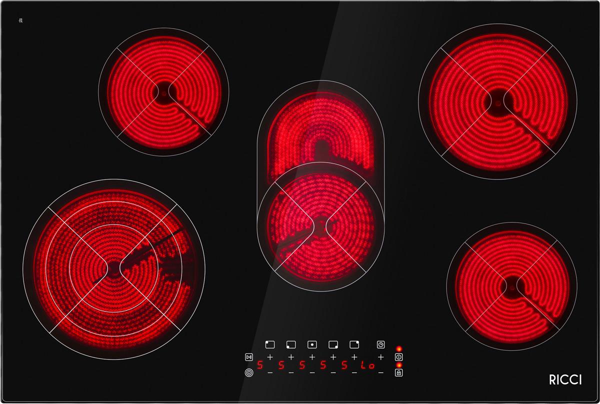 Варочная панель Ricci KS-T58504, пятиконфорочная, инфракрасная, черный все цены