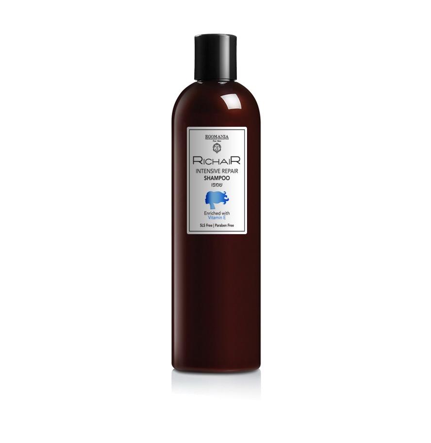 Шампунь для волос Egomania Richair Активное восстановление с витамином Е, 400 мл ogx vitamin e шампунь для комплексного ухода за волосами с витамином е vitamin e шампунь для комплексного ухода за волосами с витамином е 385 мл