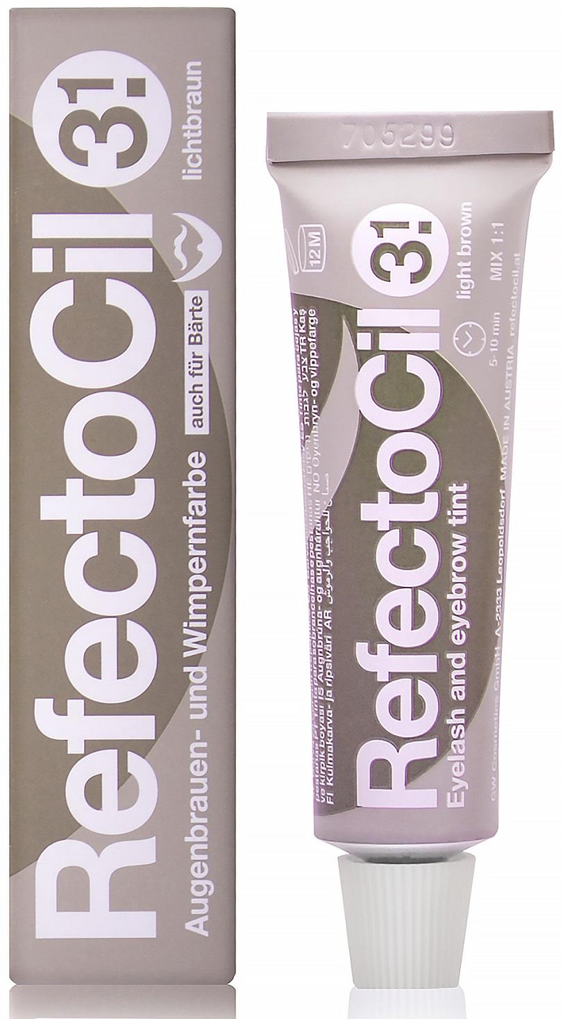 Крем-краситель для окрашивания бровей и ресниц REFECTOCIL № 3.1 светло-коричневый 15 мл
