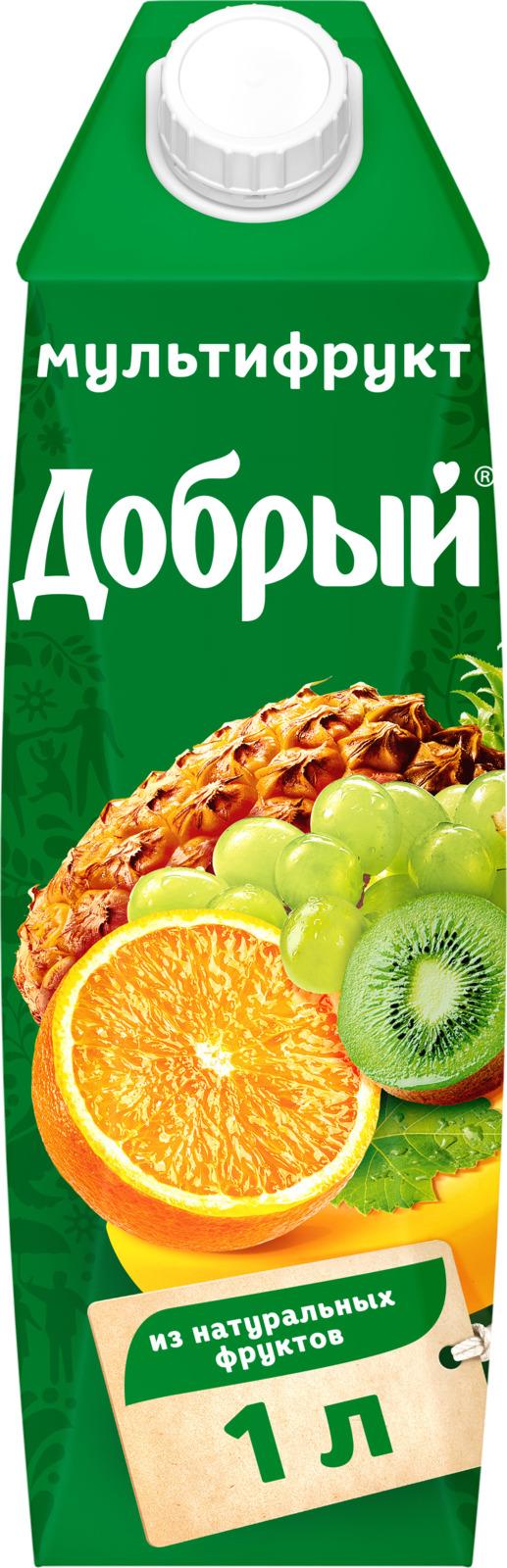 Нектар Добрый Мультифрут, 1 л нектар добрый мультифрут