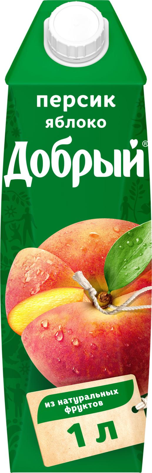 Нектар Добрый Персик Яблоко, 1 л нектар добрый мультифрут