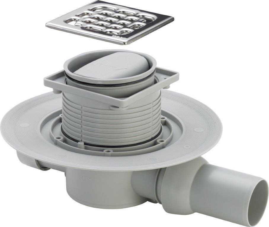 Сифон для душа Viega Trap, трап с сухим затвором, 583217, стальной трап для душа alpen harmony 85 ch 850h