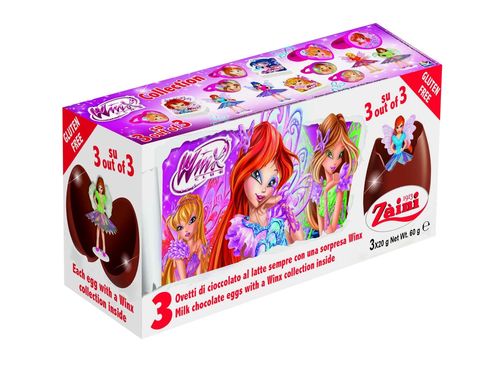 Шоколадное яйцо ZAINI Шоколадное яйцо WINX с коллекционной игрушкой-сюрпризом внутри Zaini(WINX) tpk, Молочно-шоколадный zaini choco