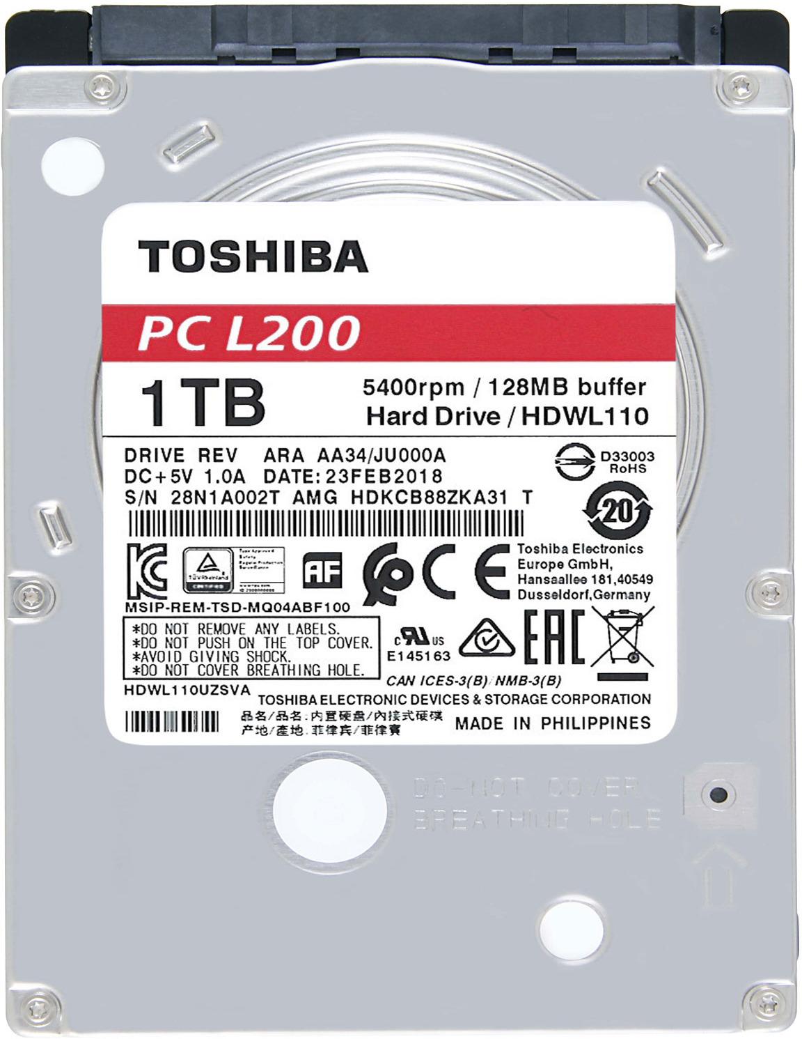Жесткий диск Toshiba 1TB, HDWL110EZSTA цена