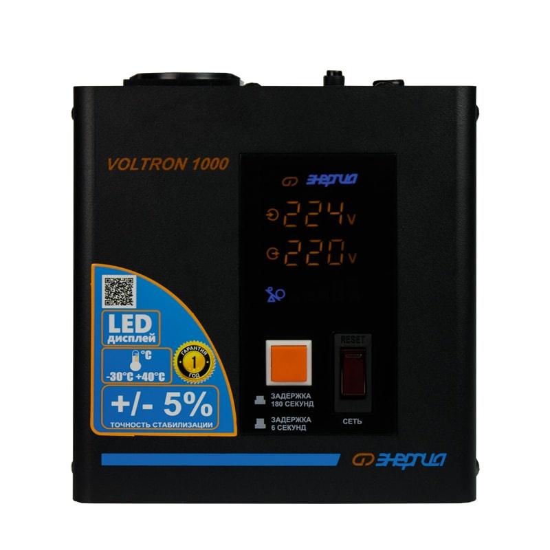 Стабилизатор напряжения Энергия Voltron 1000 (HP) однофазный стабилизатор напряжения энергия voltron рсн 5000