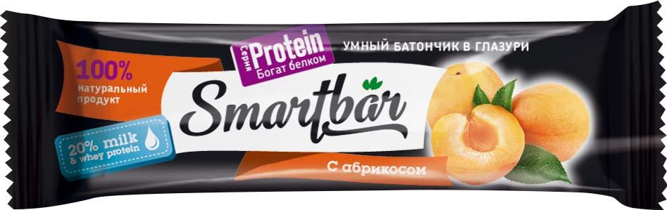 Батончик SmartBar Protein Абрикос в йогуртовой глазури, с высоким содержанием белка, 40 г4630017461226Батончик SmartBar Protein Абрикос в йогуртовой глазури, с высоким содержанием белка, 40 г