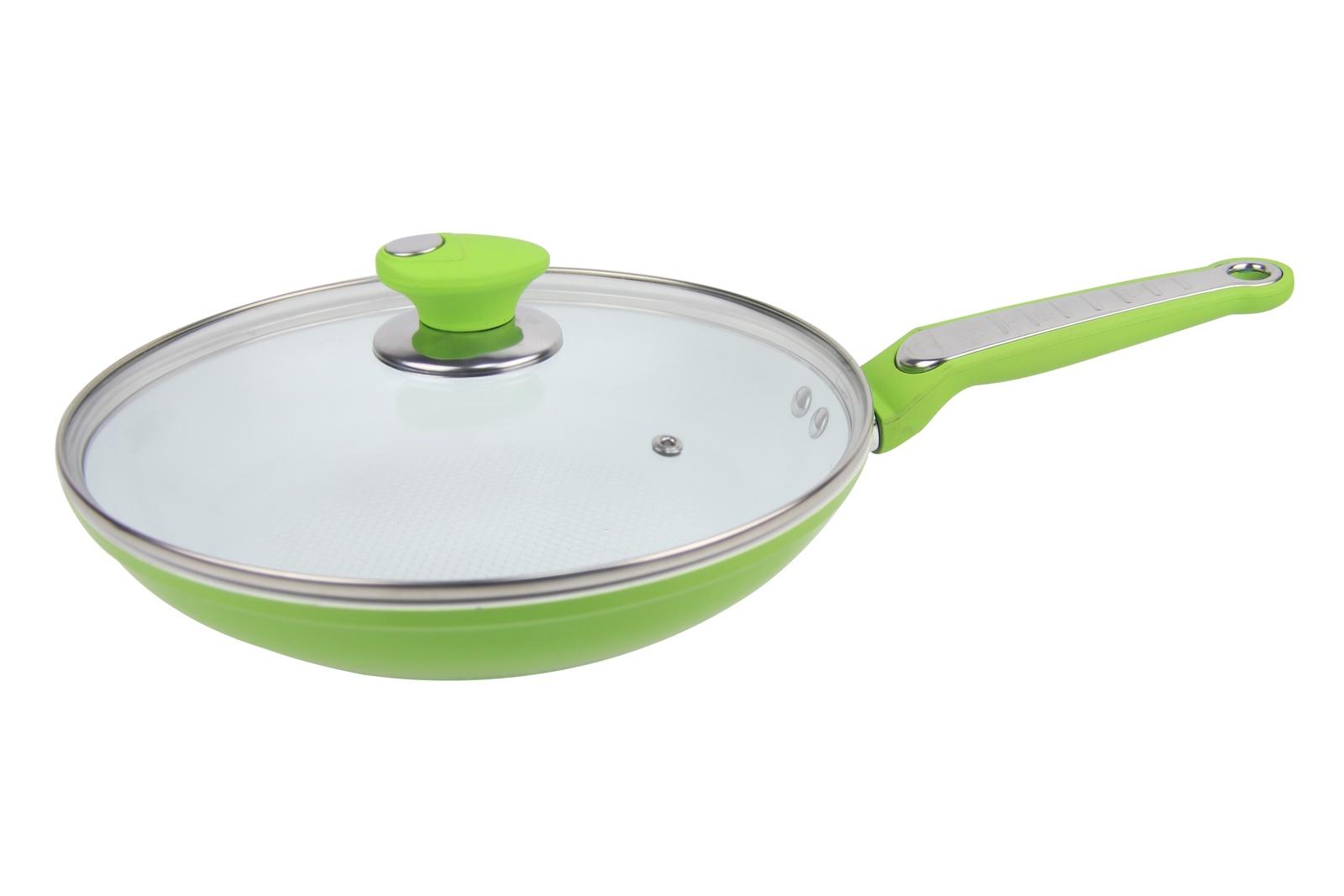 Сковорода Bohmann BH-7826, диаметр 26 см, зеленый сковорода bohmann 28cm bh 1010 28mrb