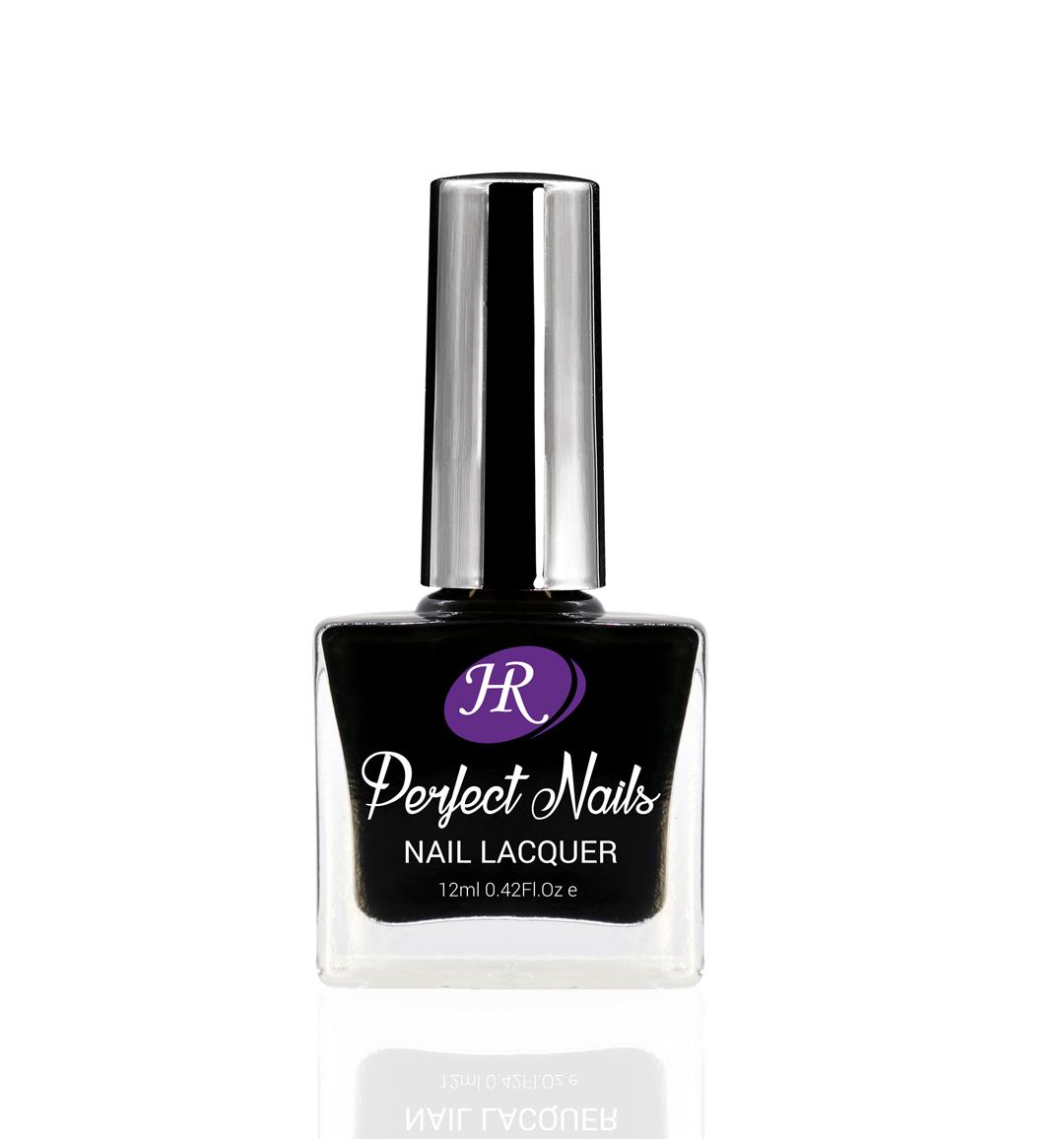 Лак Holy Rose Perfect Nails, тон 002 черный, 12 мл729-78002Лак HOLY ROSE подарит вам красивый маникюр и отличное настроение. Оптимальная консистенция, удобная кисточка позволяют легко и равномерно покрыть ногти. Быстро сохнет, удаляется любой жидкостью для снятия лака. Оцените превосходное качество по привлекательной цене!