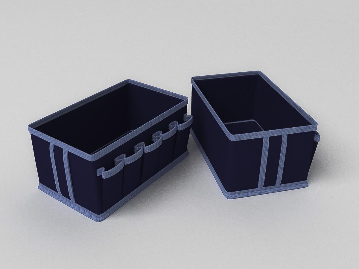 Кофр для хранения вещей Камея, ch30синий, 25х15х12 см сотовых samsung