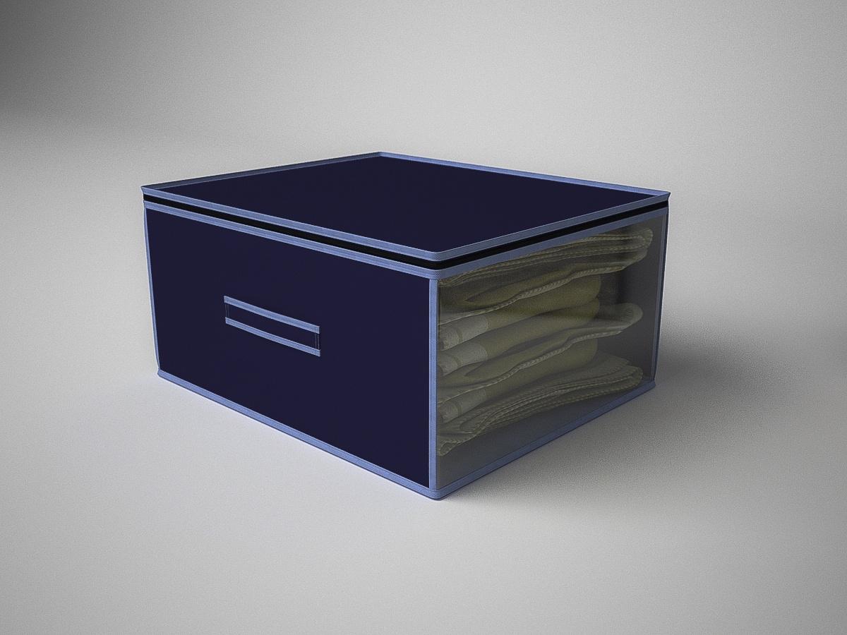 Кофр для хранения вещей Камея, ch05синий, 60х50х30 см цена