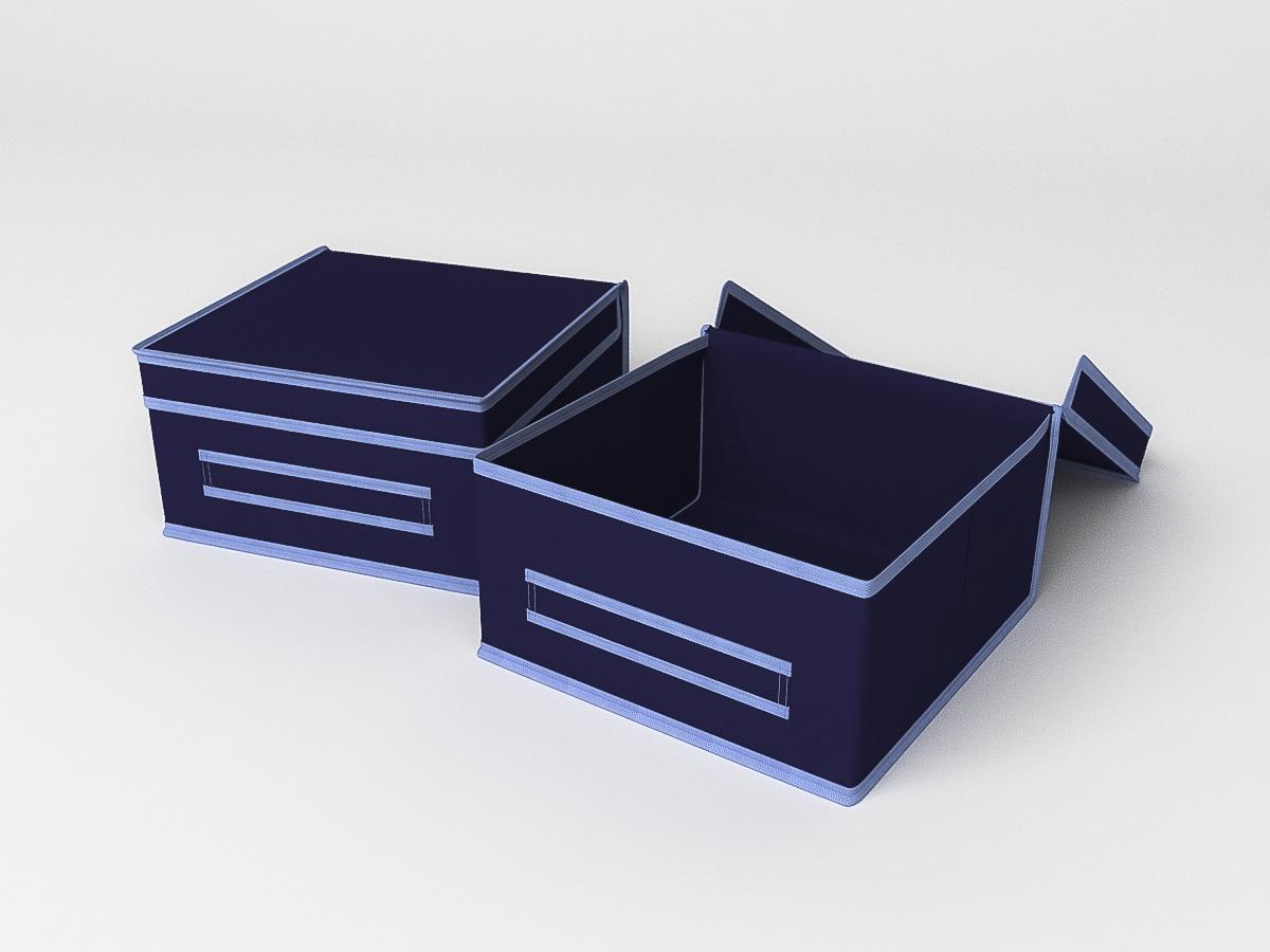 Кофр для хранения вещей Камея, ch31синий, 30х30х16м цена