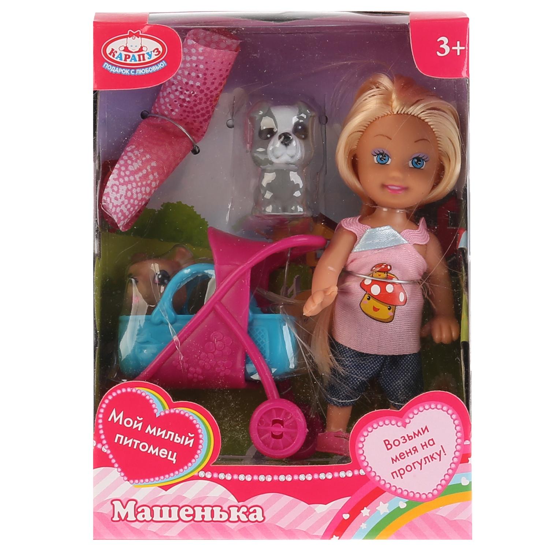 Кукла, ТМ Карапуз, Машенька 12см, в комплекте набор д/пикника, 2 питомца, аксессуарами.