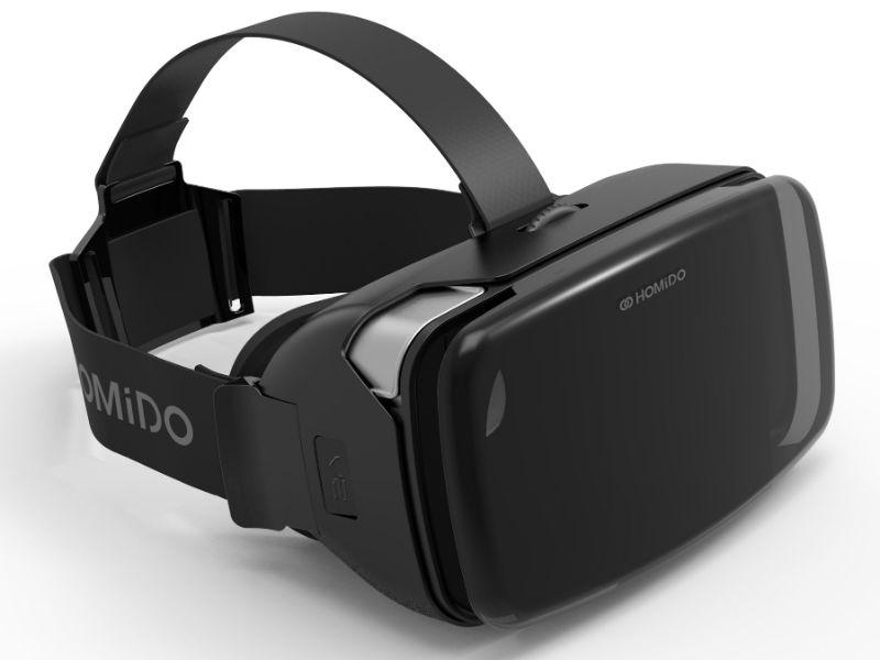 лучшая цена Очки виртуальной реальноcти для смартфонов Homido Homido V2 Deluxe, HMD-02-D, черный