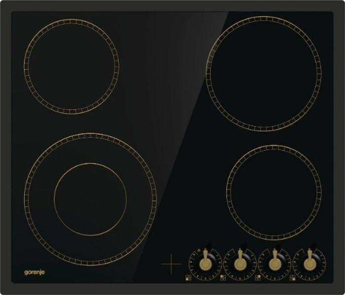 Встраиваемая электрическая варочная панель Gorenje EC642CLB, black панель варочная электрическая встраиваемая gorenje ic6ini black