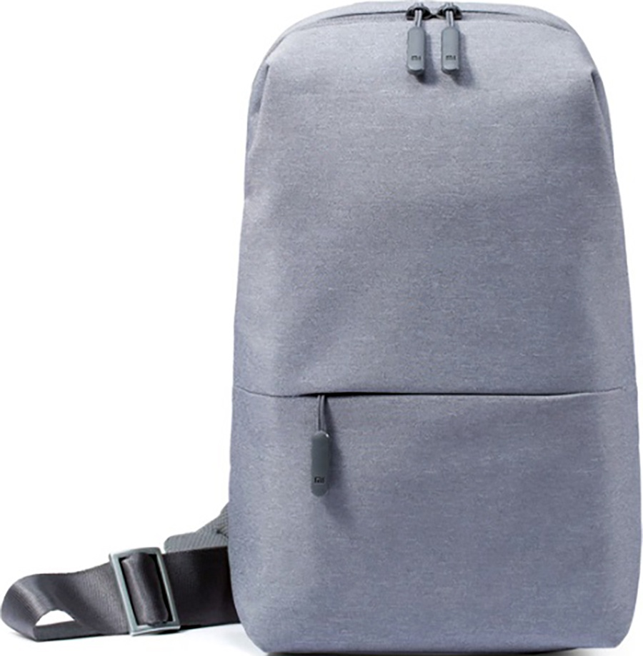 Рюкзак Xiaomi Mi City Sling Bag, светло-серый рюкзак для планшета 8 3 xiaomi mi city sling bag полиэстер серый micityslingbag lightgray dsxb01rm