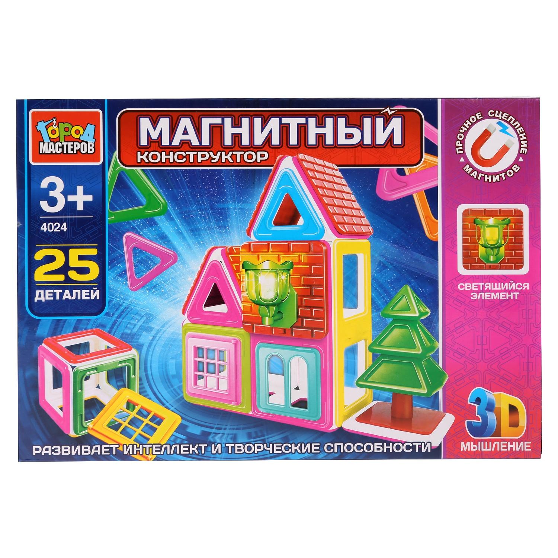 Игрушка конструктор магнитный Город мастеров, 261871, 25 дет