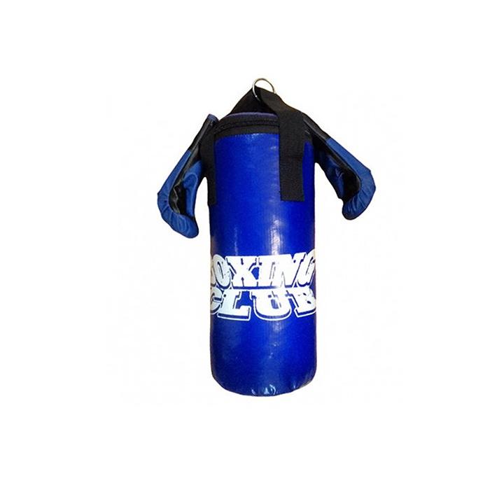 Набор боксерский RealSport Юниор мешок, 45см+ перчатки тренировочные, синий