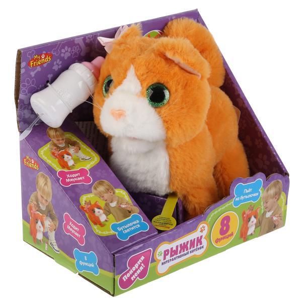 Интерактивный котенок MY FRIENDS Рыжик, 16 см котёнок рыжик или как найти сокровище вебб х