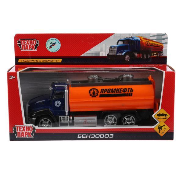 Машина Технопарк Бензовоз, 262314, синий, оранжевый, 21 см технопарк машина камаз 6520 бензовоз