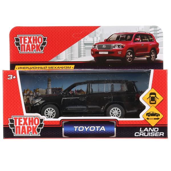 Машина Технопарк Toyota Land Cruiser, 262771, черный, 12,5 см цена