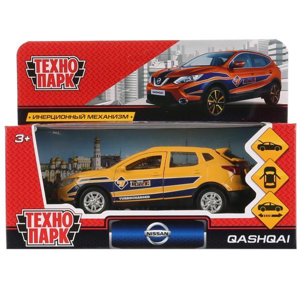 Машина Технопарк Nissan Qashqai спорт, 263451, желтый, 12 см263451ТМ Технопарк. Машина металл NISSAN QASHQAI СПОРТ длина 12см, открыв. двери и багажник, инерц. Машинка Nissan Qashqai Спорт ТМ Технопарк представляет собой точную лицензионную копию настоящей. Это металлическая модель, выполненная в жёлтом цвете с рисунками. У неё открываются двери и багажник, можно рассмотреть салон внутри. Оснащена инерционным механизмом: если поставить машинку на ровную поверхность, потянуть за корпус и отпустить, то она поедет сама. Развивает мелкую моторику, воображение, расширяет кругозор. Размер 12 см. Рекомендуется детям от 3 лет.