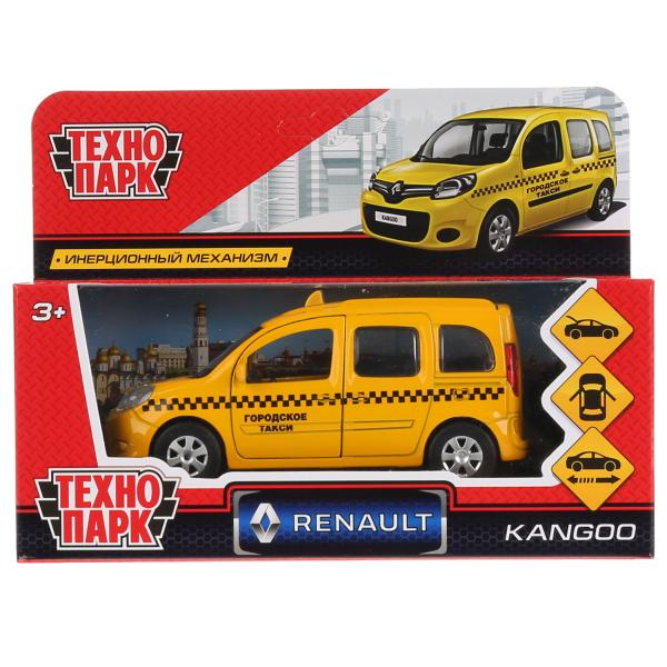 Машина Технопарк Renault Kangoo такси, 265826, желтый, 12 см машина авто по русски такси 10104апр